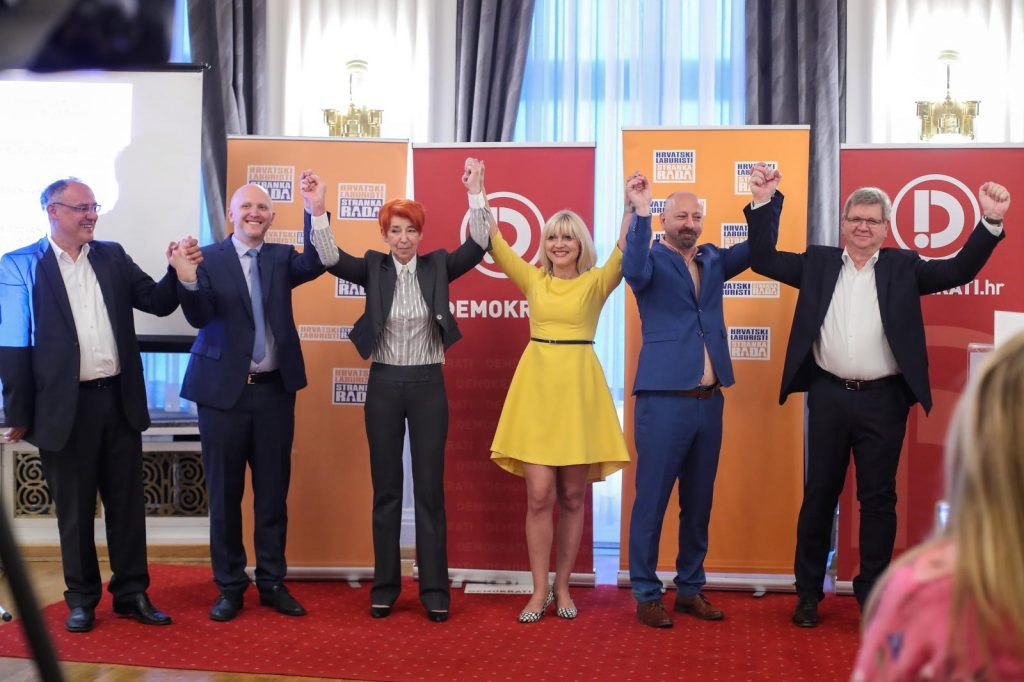 Damir Kajin, Spomenka Avberšek, David Bregovac, Bojana Hribljan, Mirando Mrsić i Renato Petek, photo: Luka Stanzl - PIXSELL