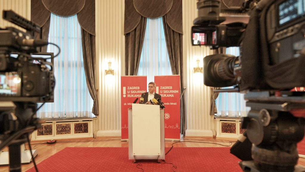 Mirando Mrsic, 11. 3., kandidat za gradonacelnika Zagreba i predsjednik Demokrata